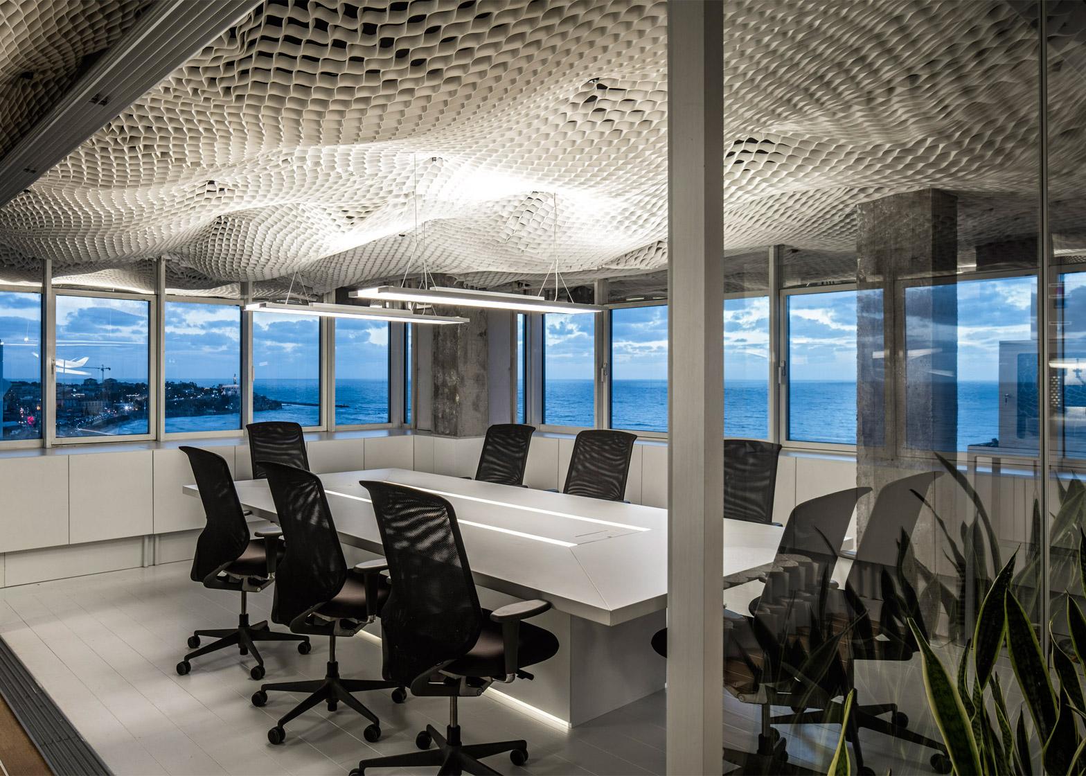 prs-offices-paritzki-liani-architects-interiors-ceiling-geo-cell-tel-aviv-israel-colour_dezeen_1568_3